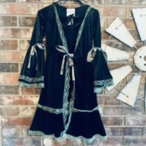 California Costumes Black Velvet Lace Bows Sexy LG